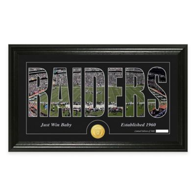 "NFL Oakland Raiders ""Silhouette"" Bronze Coin Panoramic Photo Mint"