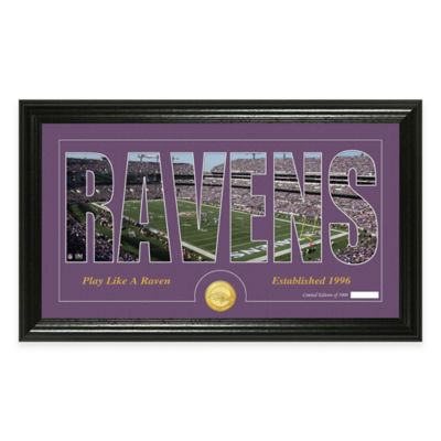 "NFL Baltimore Ravens ""Silhouette"" Bronze Coin Panoramic Photo Mint"