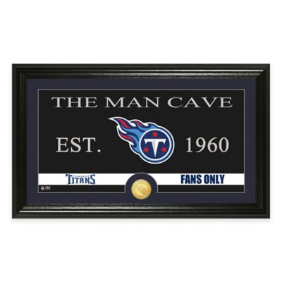 "NFL Tennessee Titans ""Man Cave"" Bronze Coin Panoramic Photo Mint"
