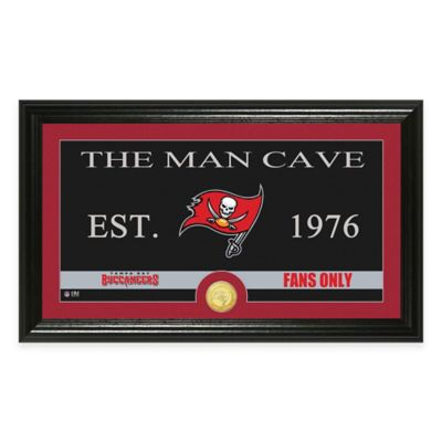 "NFL Tampa Bay Buccaneers ""Man Cave"" Bronze Coin Panoramic Photo Mint"