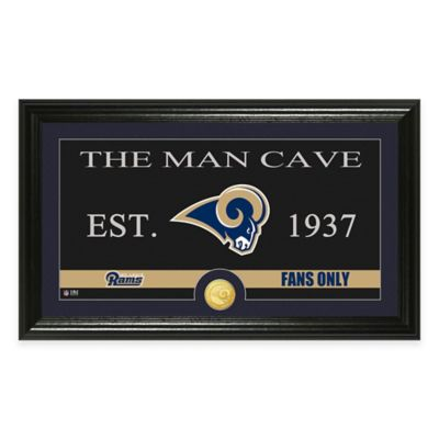 "NFL St. Louis Rams ""Man Cave"" Bronze Coin Panoramic Photo Mint"