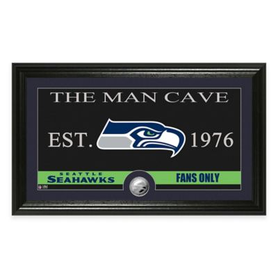 "NFL Seattle Seahawks ""Man Cave"" Bronze Coin Panoramic Photo Mint"