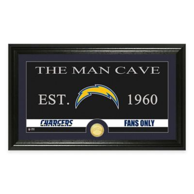 "NFL San Diego Chargers ""Man Cave"" Bronze Coin Panoramic Photo Mint"
