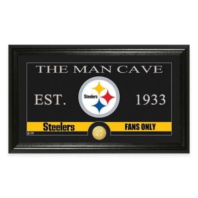 """NFL Pittsburgh Steelers """"Man Cave"""" Bronze Coin Panoramic Photo Mint"""