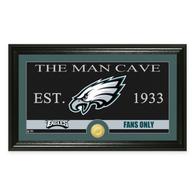 "NFL Philadelphia Eagles ""Man Cave"" Bronze Coin Panoramic Photo Mint"