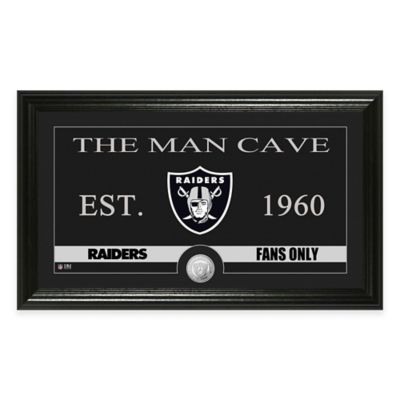 "NFL Oakland Raiders ""Man Cave"" Bronze Coin Panoramic Photo Mint"