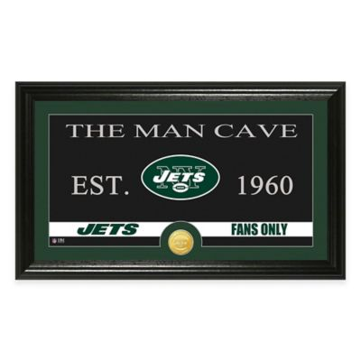 "NFL New York Jets ""Man Cave"" Bronze Coin Panoramic Photo Mint"