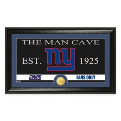 """NFL New York Giants """"Man Cave"""" Bronze Coin Panoramic Photo Mint"""