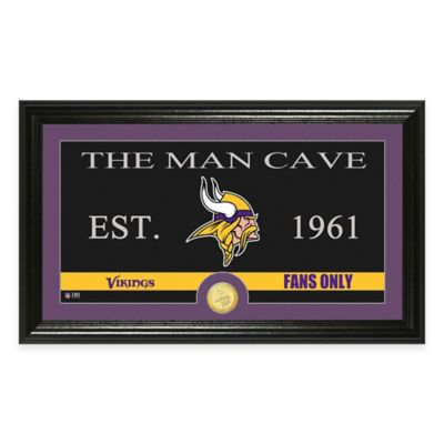 "NFL Minnesota Vikings ""Man Cave"" Bronze Coin Panoramic Photo Mint"