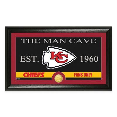 "NFL Kansas City Chiefs ""Man Cave"" Bronze Coin Panoramic Photo Mint"