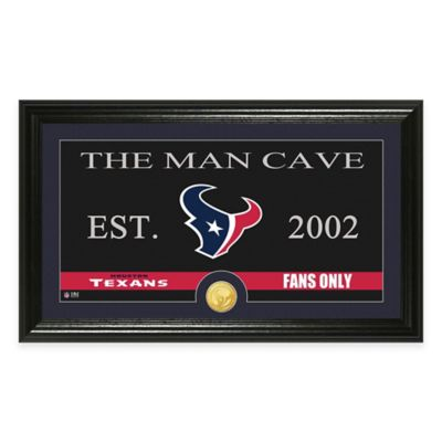 """NFL Houston Texans """"Man Cave"""" Bronze Coin Panoramic Photo Mint"""