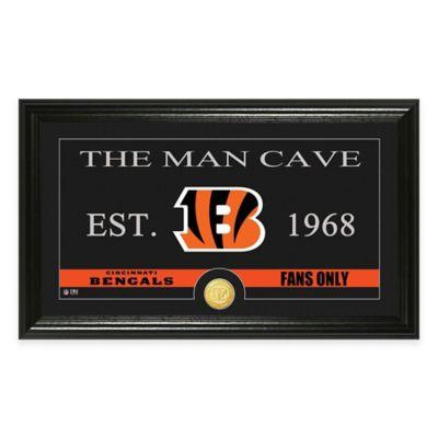 "NFL Cincinnati Bengals ""Man Cave"" Bronze Coin Panoramic Photo Mint"