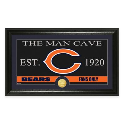 "NFL Chicago Bears ""Man Cave"" Bronze Coin Panoramic Photo Mint"