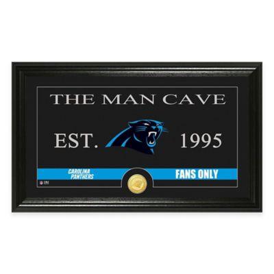 """NFL Carolina Panthers """"Man Cave"""" Bronze Coin Panoramic Photo Mint"""
