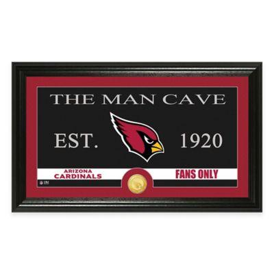 """NFL Arizona Cardinals """"Man Cave"""" Bronze Coin Panoramic Photo Mint"""