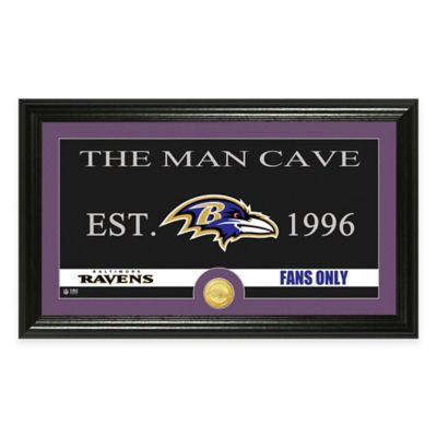 "NFL Baltimore Ravens ""Man Cave"" Bronze Coin Panoramic Photo Mint"