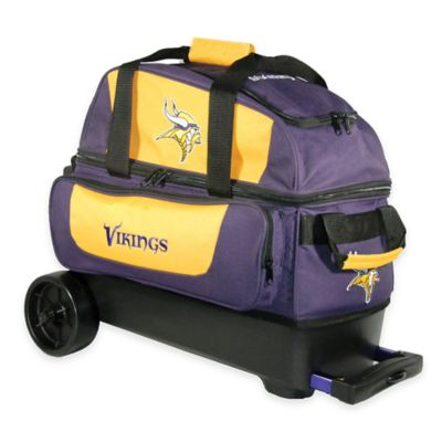 NFL Minnesota Vikings Double Roller Bowling Bag