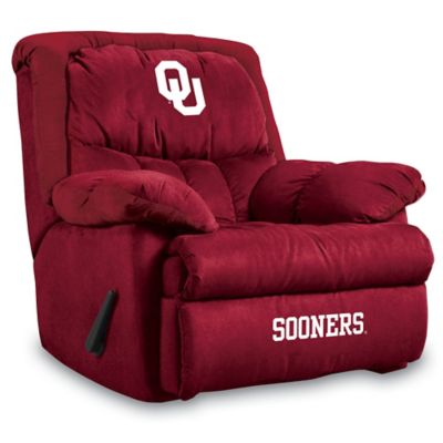 University of Oklahoma Microfiber Home Team Recliner