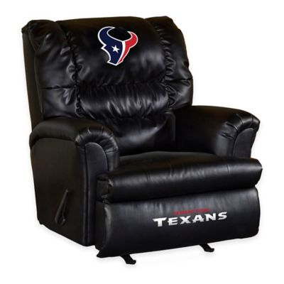 NFL Houston Texans Leather Big Daddy Recliner