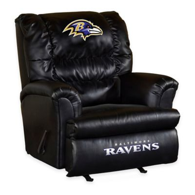 NFL Baltimore Ravens Leather Big Daddy Recliner