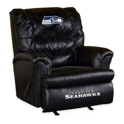 NFL Seattle Seahawks Leather Big Daddy Recliner