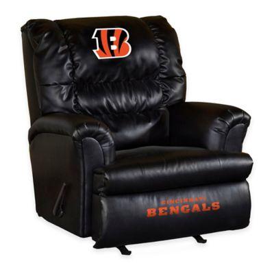 NFL Cincinnati Bengals Leather Big Daddy Recliner