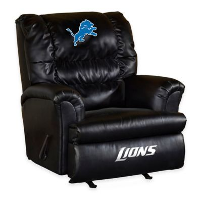 NFL Detroit Lions Leather Big Daddy Recliner
