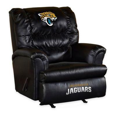 NFL Jacksonville Jaguars Leather Big Daddy Recliner