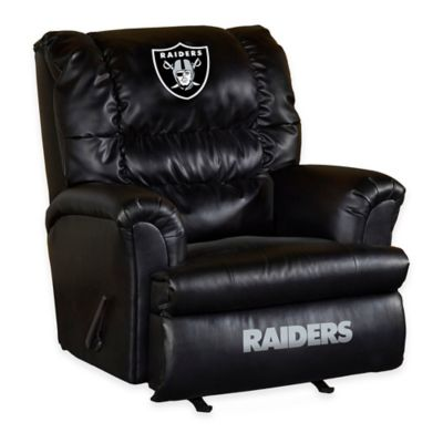 NFL Oakland Raiders Leather Big Daddy Recliner