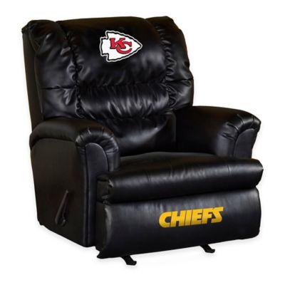 NFL Kansas City Chiefs Leather Big Daddy Recliner