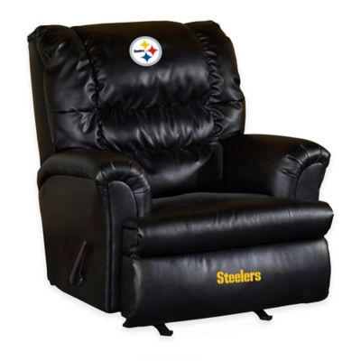 NFL Pittsburgh Steelers Leather Big Daddy Recliner