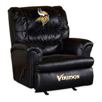 NFL Minnesota Vikings Leather Big Daddy Recliner