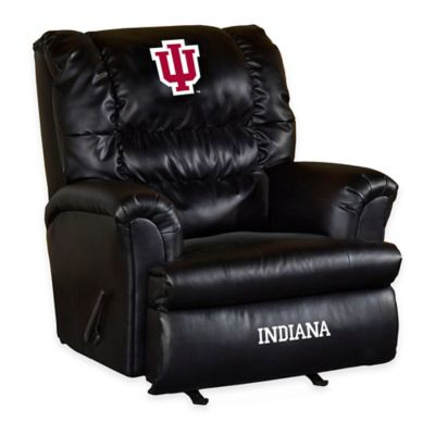 Indiana University Leather Big Daddy Recliner