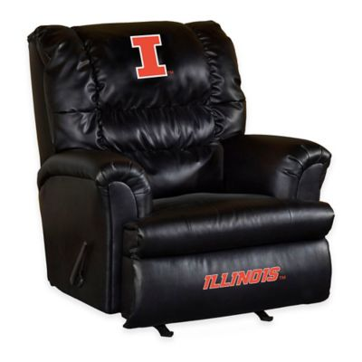 University of Illinois Leather Big Daddy Recliner