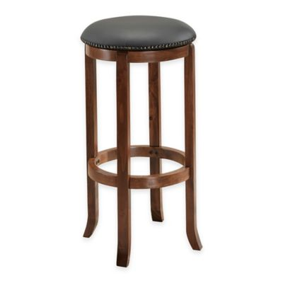 American Heritage Princess Bar Height Swivel Stool in English Tudor