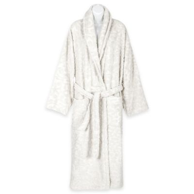 Duchene Extra-Small/Small Turkish Cotton Sculpted Bathrobe in White
