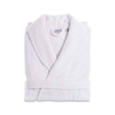 Linum Home Textiles Small/Medium Turkish Cotton Terry Unisex Bathrobe in White
