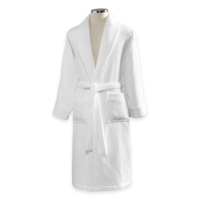 Linum Home Textiles Small/Medium Waffle Terry Turkish Cotton Unisex Bathrobe in White