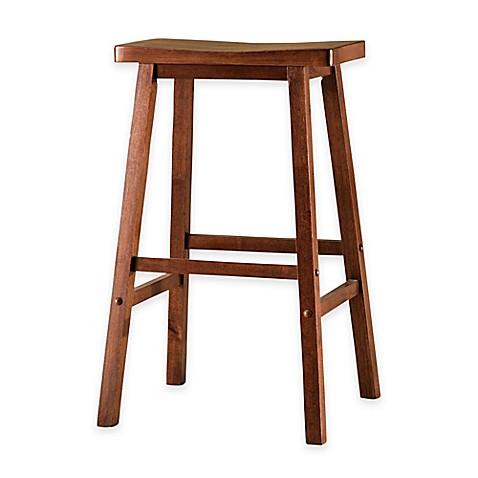 Buy American Heritage Wood Saddle Counter Stool In Walnut