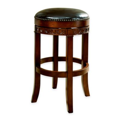 American Heritage Portofino Backless Counter Stool in Brown