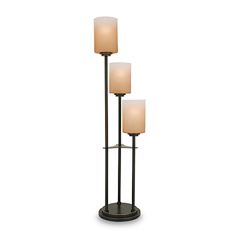 Vesta 3-Light Table Lamp with Amber Shades