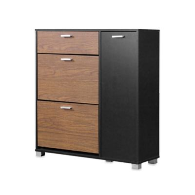 Chateau Storage Cabinet in Walnut/Black