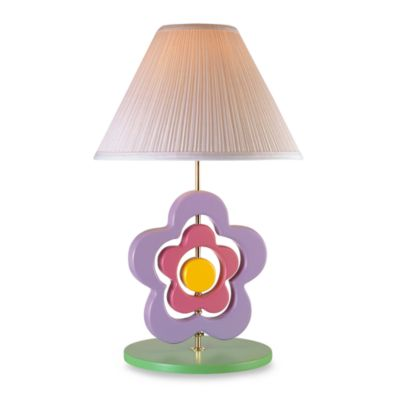 Hippie Spinning Flower Table Lamp and Shade