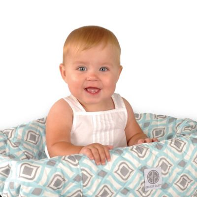 Balboa Baby Shopping Cart and High Chair Cover in Seafoam/Creme/Grey Bohemian Print