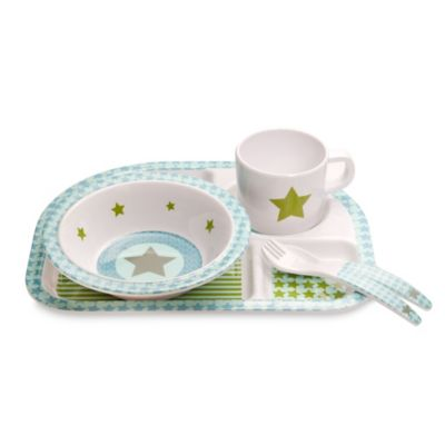 Lassig Starlight 5-Piece Melamine Dish Set in Olive