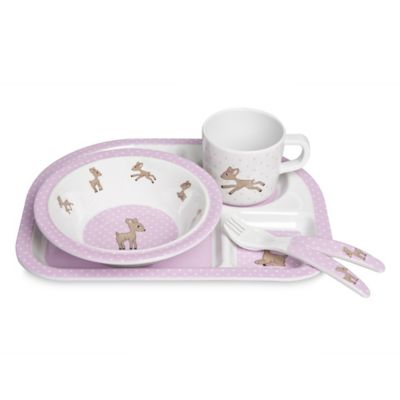 Lassig Lela 5-Piece Dish Set in Light Pink