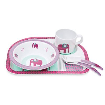 Lassig Wildlife 5-Piece Elephant Dish Set