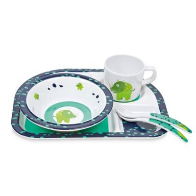 Lassig Wildlife 5-Piece Rhino Dish Set