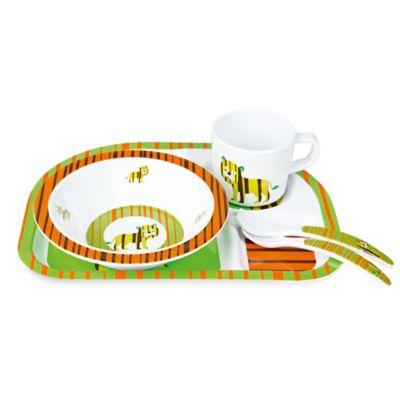 Lassig Wildlife 5-Piece Melamine Tableware Set in Tiger