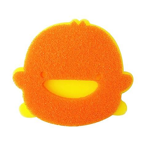 buy piyo piyo double layer bath sponge in orange yellow from bed bath beyond. Black Bedroom Furniture Sets. Home Design Ideas